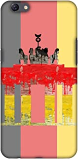 AMZER Slim Fit Handcrafted Designer Printed Snap On Hard Shell Case Back Cover for Oppo F3 Plus - The Brandenburg Gate- Ge...