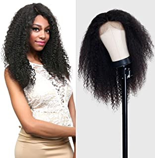 UpScale 100% Virgin Glueless Remi Human Hair Hand Made Unprocessed Brazilian Human Full Lace Wig Jerry Curl 150% Density NATURAL Color 24