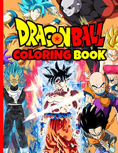 Dragon Ball Coloring Book: Manga Coloring Book With 48 Character Illustrations. Great Coloring Book For Adults or Kids