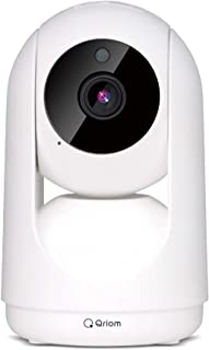 [山善] ネットワークカメラ Watch&Talk 1080p フルHD WiFi 赤外線ナイトビュー 動作検知アラート機能 防犯カメラ/ペットカメラ/見守りカメラ/ベビーモニター スマホ連動 QIP-C01 [メーカー保証1年]