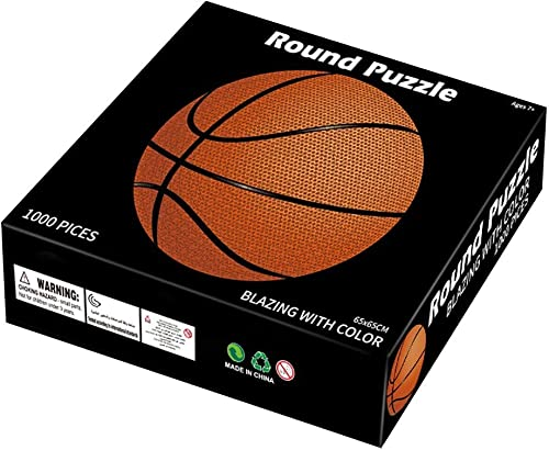 wholesale OPTIMISTIC Puzzle 1000 Pieces for Adults - Round Basketball - Paper Jigsaw Puzzles, Personalized sale Gift Stress Relief Educational new arrival Toy Home Collection Decorations 1.6mm in Thick, 26In, Beautiful Packing outlet online sale