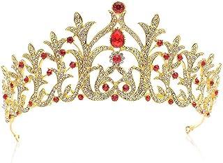 Dongyu Corona, Punta da Trapano Principessa Decorata con Diadema da Sposa in Cristallo da Cerimonia Nuziale di Bellezza Re...