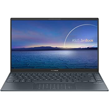 "ASUS ZenBook 14 Ultra-Slim Laptop 14"" Full HD NanoEdge Bezel Display, Intel Core i7-1165G7, 8GB RAM, 512GB PCIe SSD, NumberPad, Thunderbolt 4, Windows 10 Home, Pine Grey, UX425EA-EH71"