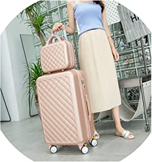 Carry-On Suitcase With Wheels Women Luggage With 14 Inch Travel Bag,Rose Golden,20