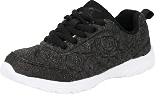 Cambridge Select Kids' Lace-Up Floral Embossed Casual Sport Fashion Sneaker (Toddler/Little Kid/Big Kid)