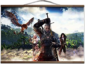 The Witcher 3: Wild Hunt Landscape Poster Geralt Canvas Painting Wall Pictures for Living Room