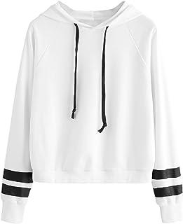 SweatyRocks پیراهن کش ورزش پیراهن کش ورزش شانه راه راه Hoodie