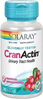 Solaray Cranactin Cranberry AF Extract Vegetarian Capsules, 400 mg, 30 Count