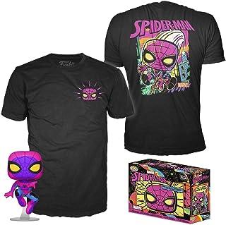 Original Funko Pop Marvel Black Light Spiderman Multicolor 50383 + Camiseta Exclusiva Talla l