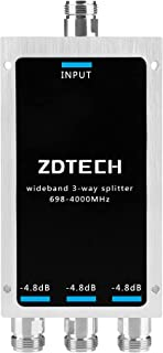 ZDTECH WideBand 3-Way Splitter with N-Female Connectors...