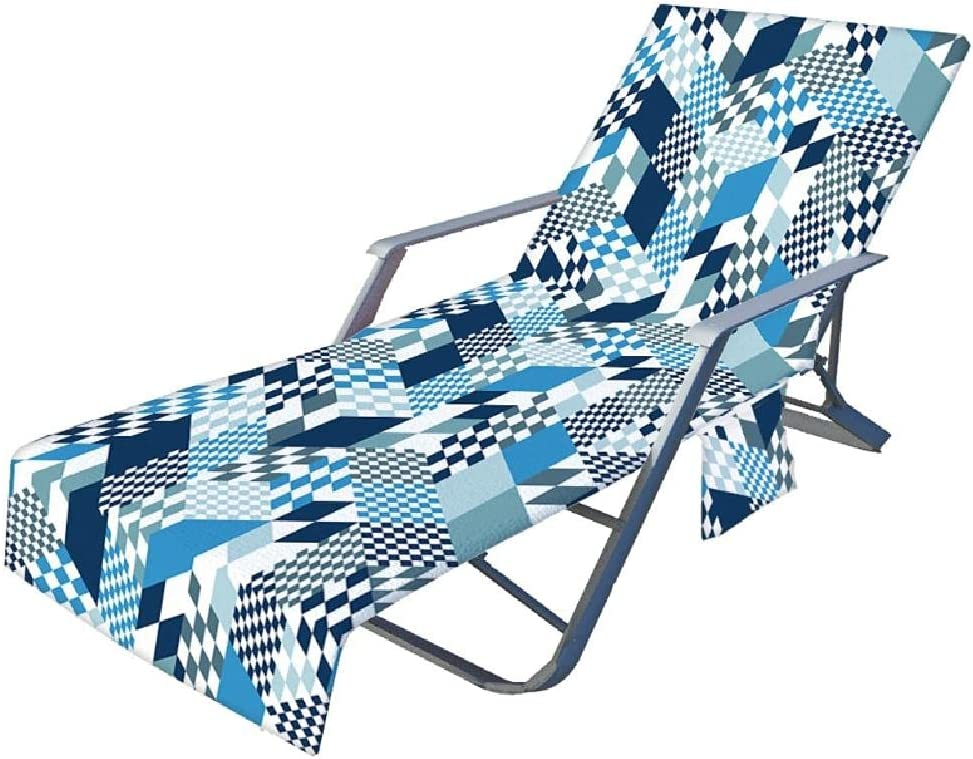 Kanxiner Colorful sale Geometry Pattern Beach Lounge Max 59% OFF Chaise Cov Chair