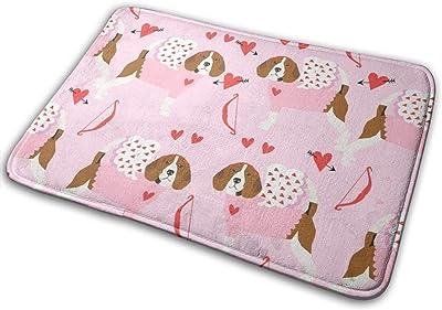 """Beagle Love Bug Valentines Day Dog Breed Pink_25032 Doormat Entrance Mat Floor Mat Rug Indoor/Outdoor/Front Door/Bathroom Mats Rubber Non Slip 23.6"""" X 15.8"""""""