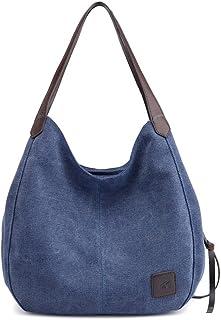 KEEPOP Canvas Hobo Bag Tote Handtasche Shopping Umhängetasche für Frauen