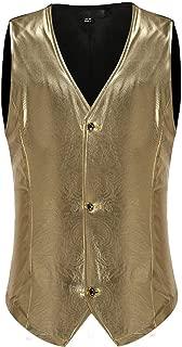 Men Autumn Casual Daily topss Autumn Winter Casual Fashion Deep V-Neck Waistcoat Splice Vest Top Coat