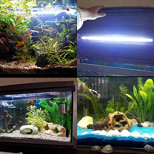 Tingkam® 48CM 57LED Weiß Wasserdicht IP68 Fische Licht Aquarium Light Aquariumleuchte Unterwasser - 7