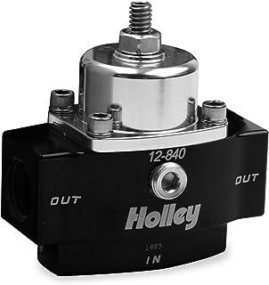 """Holley 12-840 4.5-9 PSI Adjustable Billet Fuel Pressure Regulator with 3/8"""" NTP Ports"""