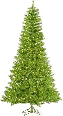 Vickerman Lime/Green Tinsel Christmas Tree, A147876LED