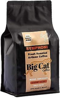 Boost Foodz - Big Cat Coffee - Symphoni - Artisan Fresh Roasted - Whole Beans - Gourmet Eastern Blend - Medium/Dark Roast - 100% Arabica Coffee - 500g Bag - Australian Made