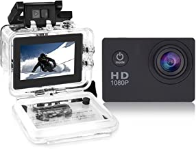 YUNTAB Sport Action Camera Vlog DV, HD 1080P 2.0 inch, 5MP, 120 Degree Wide-Angle, 30m Underwater Waterproof Camcorder(Black)