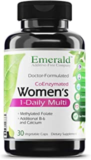 Women's 1-Daily Multi - Complete Daily Multivitamin with CoEnzymes + Vitamin B6 & Calcium - Supports Adrenal Function, Ene...