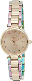 Coach Women's Carnation Gold Dial Ionic Plated Carnation Gold Steel & Ionic Plated Rainbow 2 S Watch - 14503432