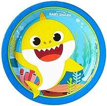 صينية ورق دائرية لسمكة القرش للاطفال ، 7 انش ، 8 قطع