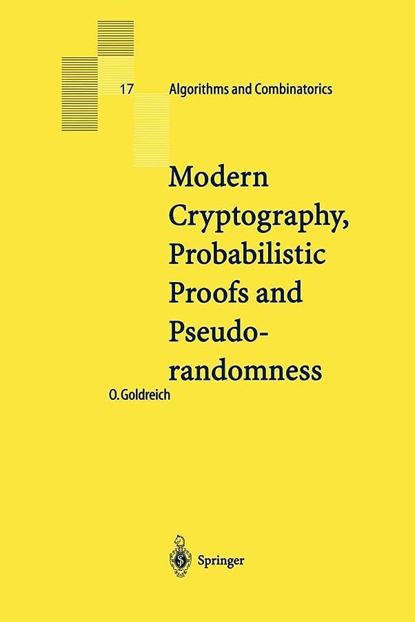 あいさつシート帆Modern Cryptography, Probabilistic Proofs and Pseudorandomness (Algorithms and Combinatorics)