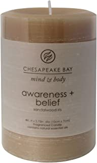 Chesapeake Bay Candle Mind & Body Collection Small Pillar Candle, Awareness + Belief