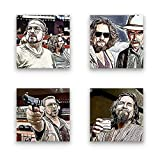 Big Lebowski, The Dude - Set B schwebend, 4-teiliges