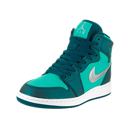 AIR JORDAN 1 RETRO HIGH GG HYPER JADE METALLIC SILVER MID