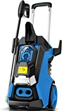 TEANDE 3800PSI Pressure Washer, TED5255 Smart Electric Pressure Washer 2.8 GPM Three Modes of Touch Screen Adjustable Pres...