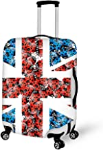 Travel Luggage Cover Suitcase Protector Fits 22-24 inch Luggage (British flag, seven-spot ladybug)