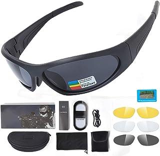 d45a8fea86 ZPL Gafas de Seguridad Tacticas, al Aire Libre Hombres Mujeres Gafas de Sol  Deportivas,