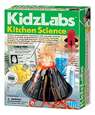 4M Kitchen Science Kit - DIY Chemistry Experiment Lab STEM Toys Gift for Kids & Teens, Boys & Girls