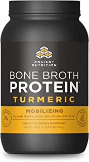 Ancient Nutrition Bone Broth Protein Powder, Turmeric Flavor, 40 Servings Size