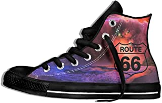 Route 66 High Top Classic Casual Canvas Fashion Shoes Sneakers For Women & Men