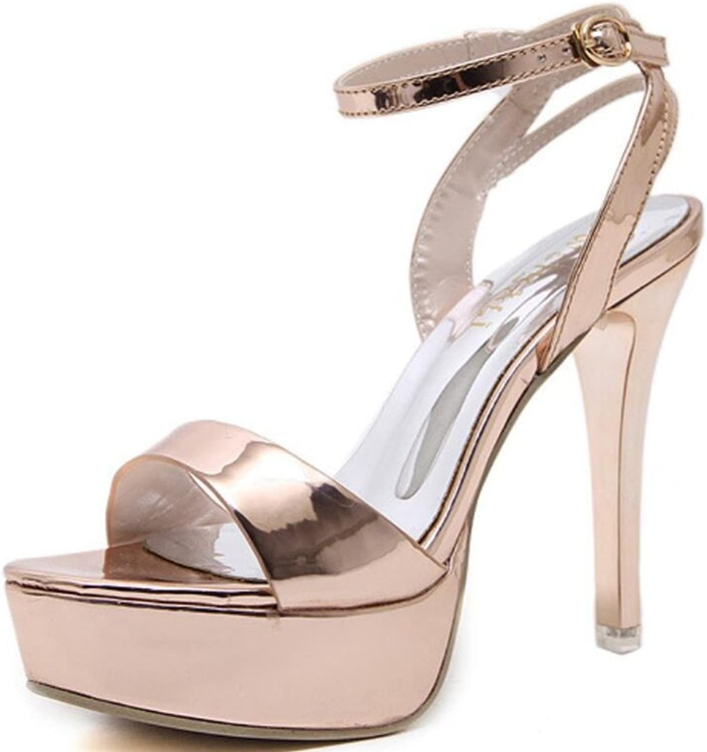 LINYI Women Fashion Waterproof Platform Stiletto Heels Sandals New Open-Toe Slim Wild Summer High Heels