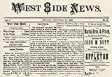 Wright Brothers Paper Ntitle-Page Of The West Side News A Weekly Newspaper Published By The Wright Brothers In Dayton Ohio Poster Print by (18 x 24)