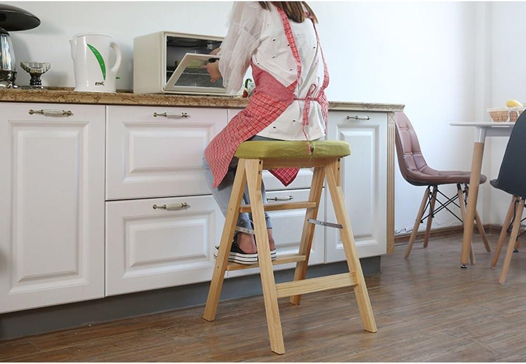 SLL- Tabouret pliant en bois massif Tabouret nordique simple tabouret portatif Fauteuils et Chaises (Color : E) G