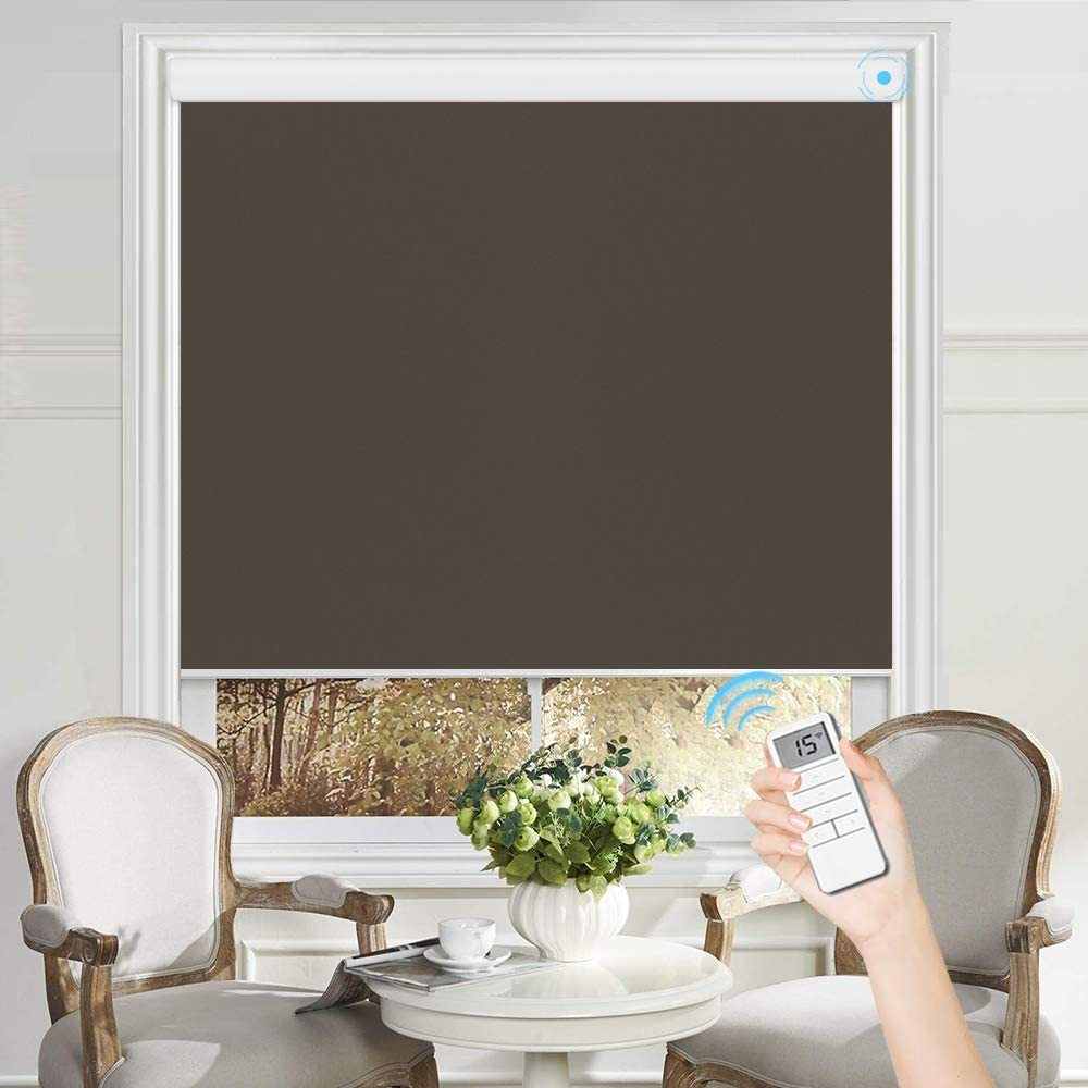 PASSENGER PIGEON Motorized Roller Shades White with Ranking TOP6 Brown Max 51% OFF Valan
