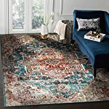 Luxe Weavers Hampstead Collection 8027 Traditional Vintage Oriental Area Rug, Blue / 8' x 10'