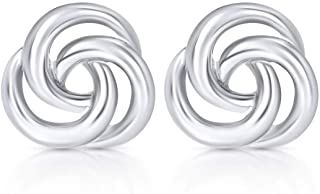 BLING BIJOUX Celtic Knot Stud Earrings Never Rust 925 Sterling Silver Natural and Hypoallergenic Studs For Women and Girls...