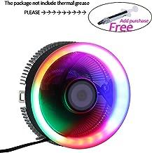 2300RPM CPU Cooler, Aluminum Extrusion Cooling CPU Fan for LGA 775/1155/1156/1366 (Fixed RGB Color, C Series)