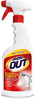 Iron OUT Spray Gel Rust Stain Remover, Remove and Prevent Rust Stains in Bathrooms, Kitchens, Appliances, Laundry, and Out...