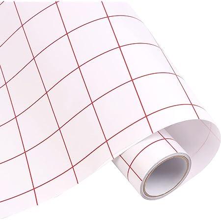WOWOSS Rouleau de Film Adhésif Transparent de Transfert, Autocollant en Plastique 30 cm X 5 m