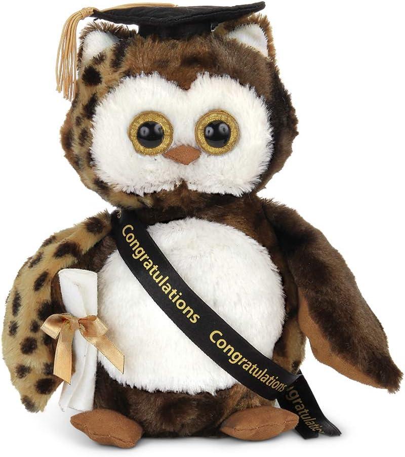 Bearington Wisdom Class of 2021 Graduation Plush Stuffed Animal Owl, 8.5 inches