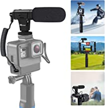 Phone Microphone and Camera Microphone, Super-Cardioid Video Microphone with Earphone Monitor Hole and Deadcat Windscreen for Camera and Smartphone