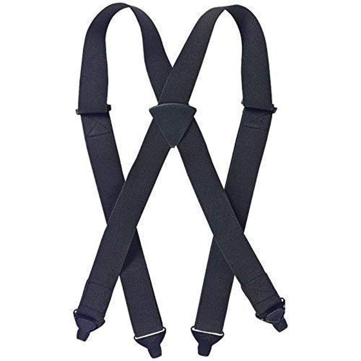 Non-Metal Clips and Adjusters HOMBRE Stripe Ski Pant SUSPENDERS or TSA Airport 2 Sizes for Better Fit