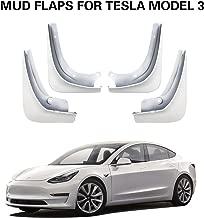 LFOTPP Mud Flaps for Tesla Model 3 Splash Guards Mudflap Fender Mudguards Pack of 4 Painted Glossy White