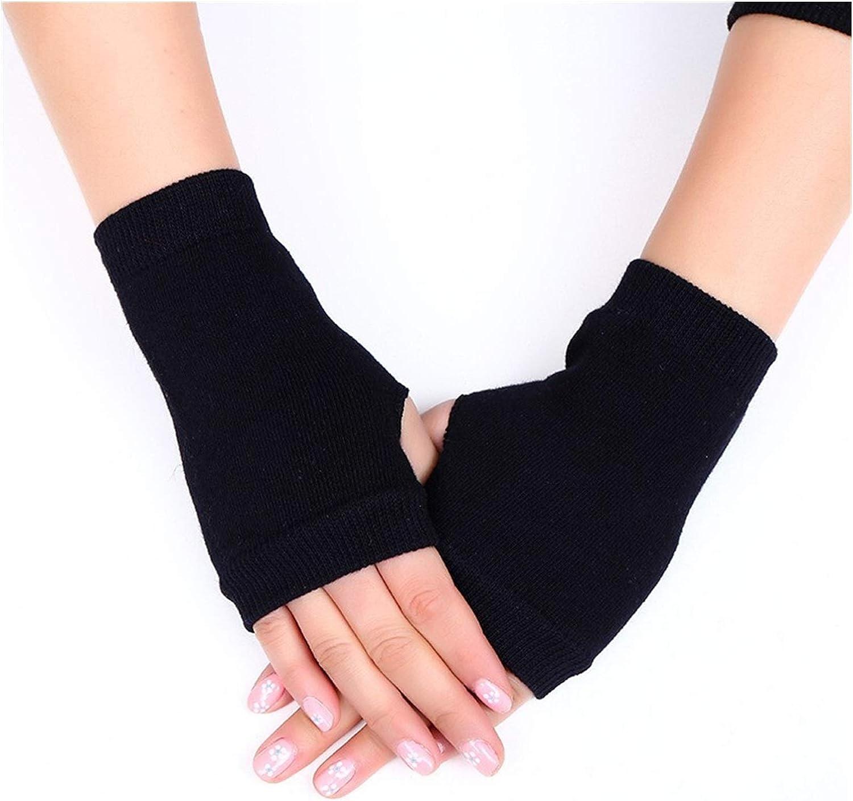 GUYANMAY Lace Gloves Cute Cat Paw Fluffy Claw Fingerless Gloves Warm Soft Plush Fingerless Panda Glove Half Finger Women Winter Wear (Color : Black 1)